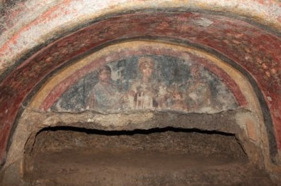 fresco from catacomb