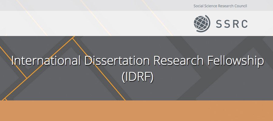 Social science research council international dissertation research fellowship